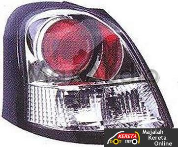 toyota yaris crystal tail lamp led