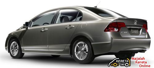civic hybrid rear view