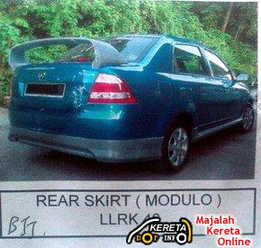 Proton new saga blm 2008 body kit spoiler