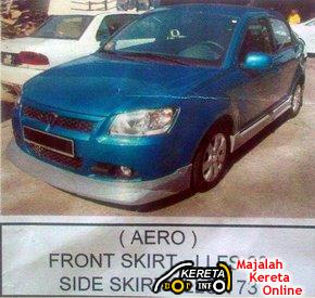 proton new saga blm 2008 side skirt