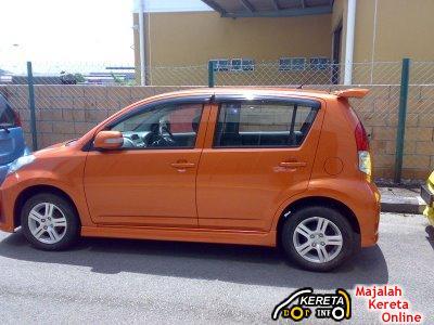 New Myvi SE orange