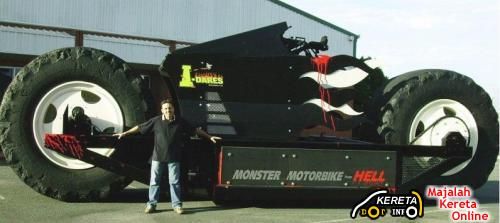 DO YOU THINK YOUR CAR IS BIGGER THAN MOTORBIKE? SEE THE BIGGEST BIKE YOURSELF!