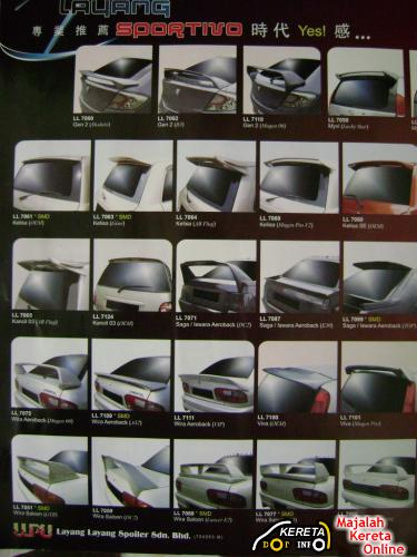 used or new spoilers gt wing universal available malaysia car model