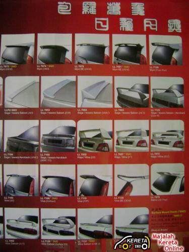 used or new spoilers gt wing universal available malaysia car spoiler picture