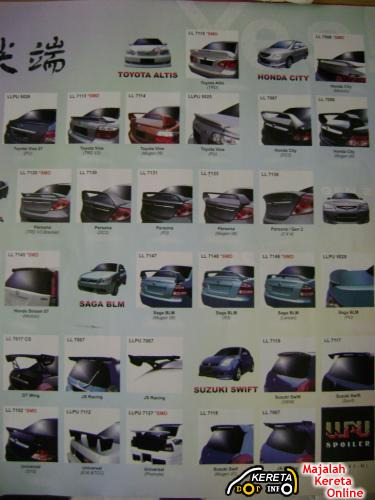 used or new spoilers gt wing universal available malaysia car