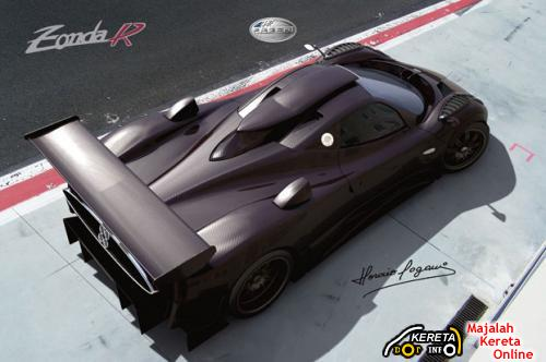 Pagani zonda r top rear