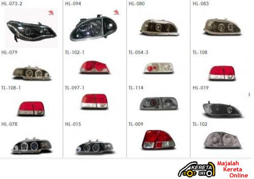 PROJECTOR LED CCFL CRYSTAL HEADLAMP AVAILABLE IN MALAYSIA - PROTON, PEUGEOT, HONDA, NISSAN, TOYOTA, PERODUA