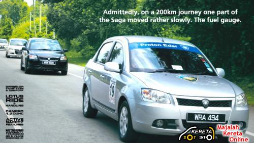 PROTON NEW SAGA BLM FUEL CONSUMPTION - CHALLENGE RESULT 44 KM/LITRE!