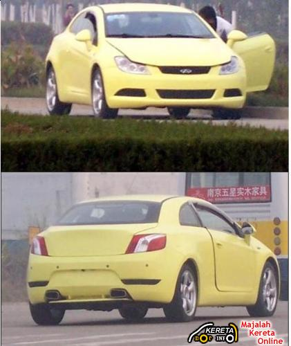 CHERY A6 COUPE CC SPY PICTURES IN UK AND CHINA