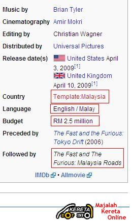 PROTON SAGA, PERODUA KENARI, MOTOR YAMAHA, SUZUKI AND KRISS INVOLVED IN FAST AND FURIOUS 2009 MOVIE!