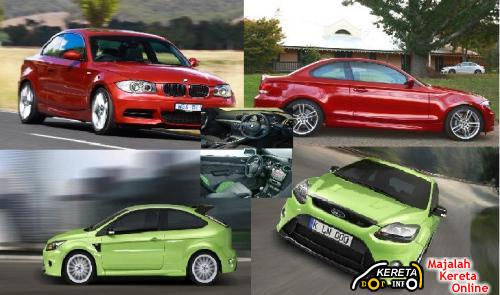 BMW 135i Coupe VS Ford Focus RS