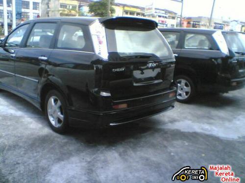 chery eastar malaysia v5 crossover rear view