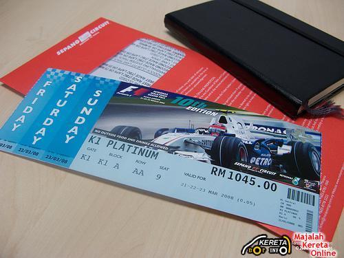 Sepang F1 Ticket