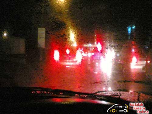 fogged windshield