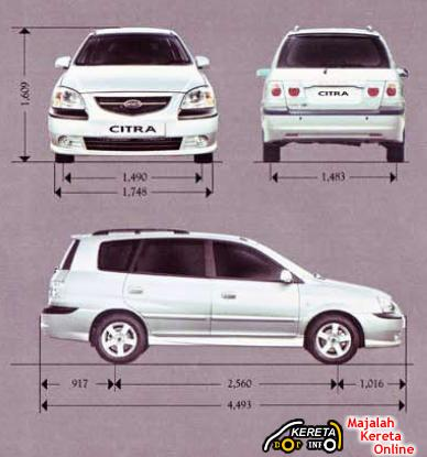 NAZA CITRA / KIA CARENS SPECIFICATION - CHEAPEST MPV REVIEW