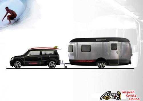 MINI COOPER S CLUBMAN WITH AIRSTREAM TRAILER 1