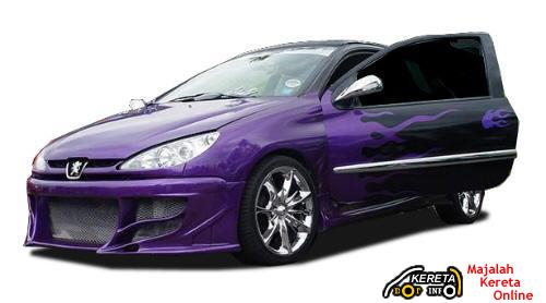 Modified Peugeot 206 impact