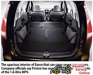 Proton exora rear bonnet