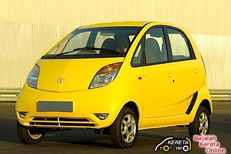 Tata Nano Yellow Front