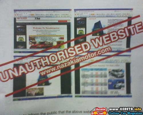 NAZAKIAMOTOR IS AN UNAUTHORIZED WEBSITE OF NAZAKIA MALAYSIA?