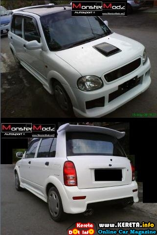 perodua kelisa bodykit monstermodz custom design scoop