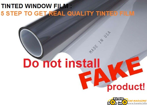 ORIGINAL WINDOW TINTED FILM
