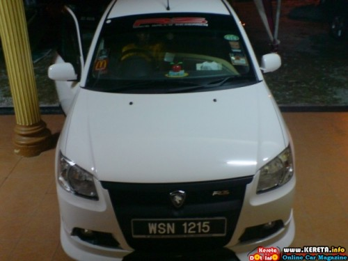 WHITE IS SEXY & NAUGHTY - PROTON SAGA BLM STYLE MODIFIED PICTURE