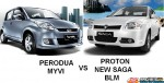 PERODUA MYVI VS PROTON NEW SAGA BLM REVIEW & COMPARISON