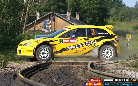 PROTON SATRIA NEO SUPER 2000 RALLY CAR 4th OVERALL RESULT