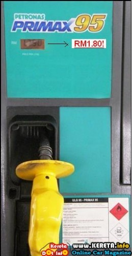 FUEL PRICE INCREASE AGAIN! RON 95 AT RM1.80 & RON 97 AT RM2.05