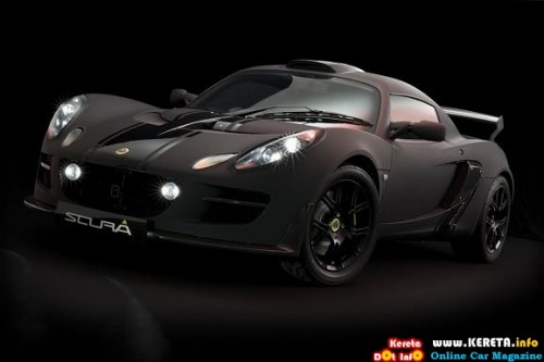 the menacing matte blac special edition lotus exige scura front 500x333