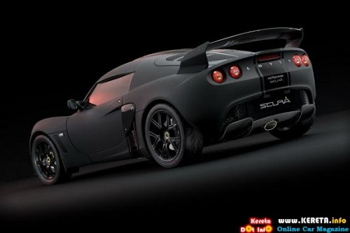 the menacing matte blac special edition lotus exige scura rear 500x333