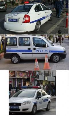 police car in istanbul 240x400