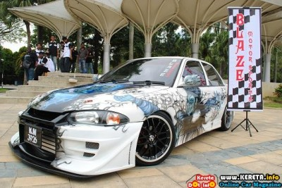 TOTALLY EXTREME EXTERIOR INTERIOR MODIFICATION PROTON WIRA MODIFIED KUMAR BLAZE 400x267