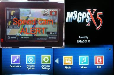 4.3inchPAPAGO X5Garmin speedcam4Gb7 MAPS