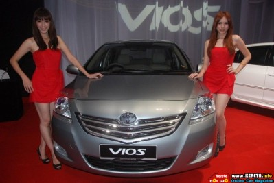 Facelifted Toyota Vios G front view 399x267