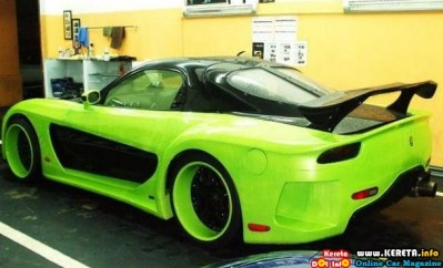 MAZDA RX7 VEILSIDE FORTUNE WIDE BODY KIT MODIFICATION