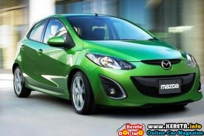 NEW MAZDA2 TEST DRIVE REVIEW - MAZDA2 SEDAN & HATCHBACK SPECIFICATION FRONT 2010