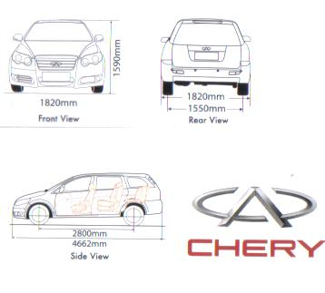 NEW CHERY EASTAR 2.0 L ACTECO SPECIFICATION 3