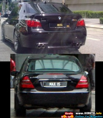 EXPENSIVE CARS WITH EXPENSIVE PLATE NUMBERS