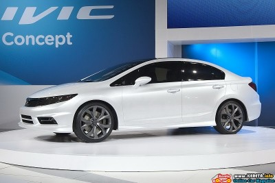 2011 honda civic concept detroit side view 400x267