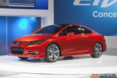 2011 honda civic si concept detroit front side view 400x267