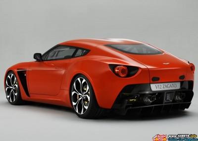 2011 aston martin v12 zagato concept rear angle view 400x285