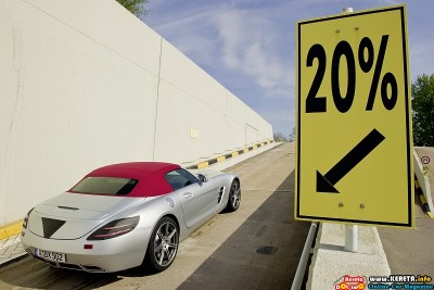 2011 mercedes benz sls amg roadster testing rear side view 400x267