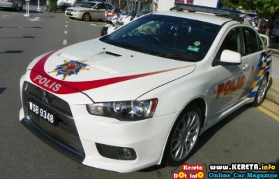 PDRM POLICE CAR KERETA POLIS MALAYSIA MITSUBISHI EVO X POLICE PATROL CAR 400x257