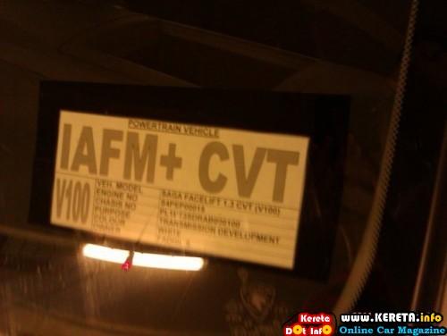 SAGA FLX - FACELIFT CVT IAFM