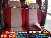 komi custom seat cover modified red kenari syntetic leather rm