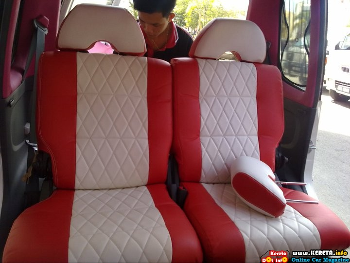 komi custom seat cover modified red syntetic leather rm 500x375