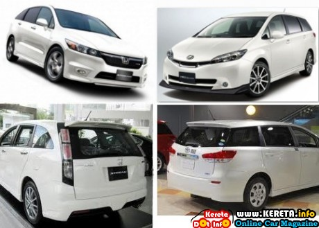 HONDA STREAM RSZ VS TOYOTA WISH new facelift 460x329