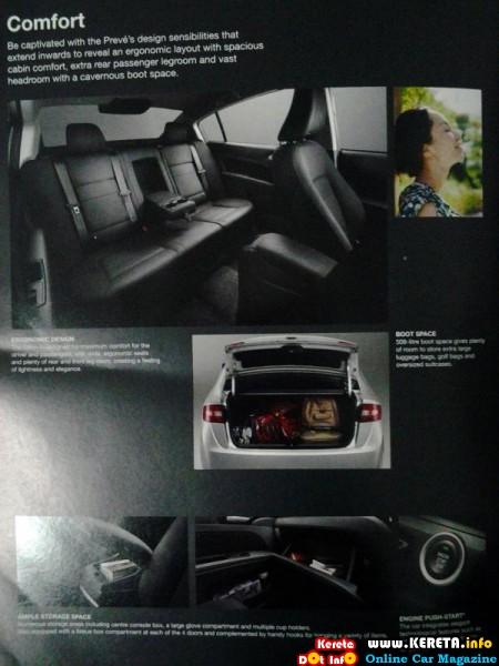 interior of proton preve brochure